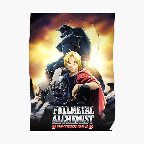 Edward and Alphonse Fullmetal Alchemist Brotherhood Poster