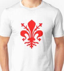Florenz Flagge Slim Fit T-Shirt