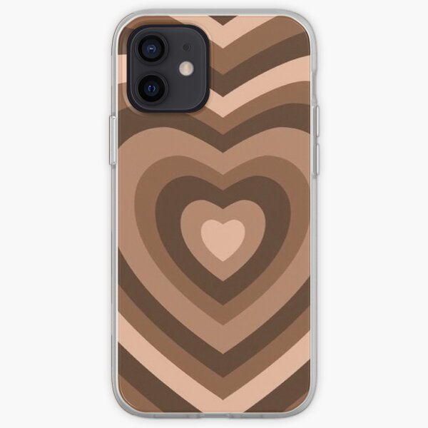 y2k heart brown iPhone Soft Case