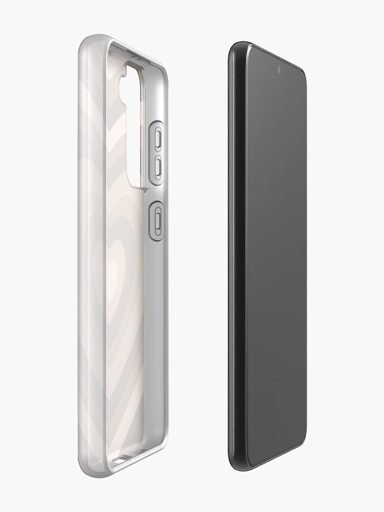 Alternate view of y2k heart brown Case & Skin for Samsung Galaxy