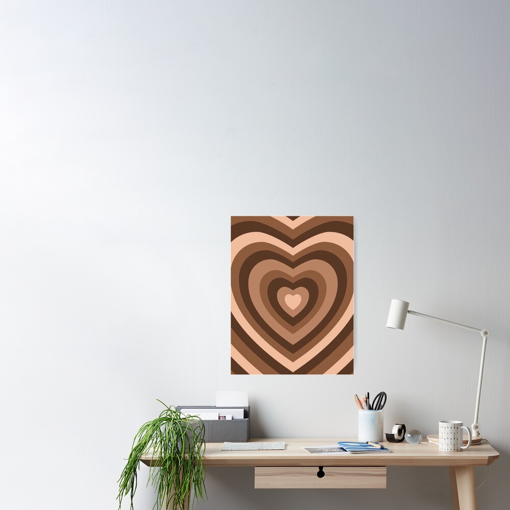 y2k heart brown Poster