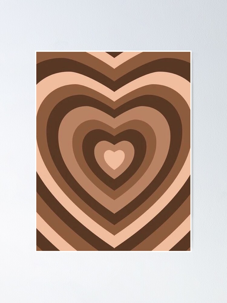 Alternate view of y2k heart brown Poster