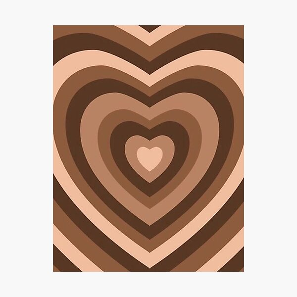 y2k heart brown Photographic Print