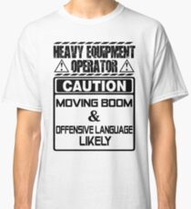 Background Vector Bolt  heavy equipment operator heavy equipment opera Classic T-Shirt