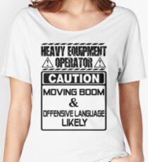 Background Vector Bolt  heavy equipment operator heavy equipment opera Women's Relaxed Fit T-Shirt