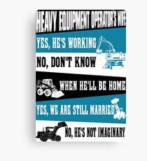 heavy equipment operator  Canvas Print