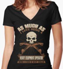 Heavy Equipment Operator Tshirts heavy equipment operator Animated sex Women's Fitted V-Neck T-Shirt