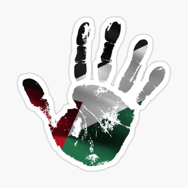 PALESTINE FLAG HANDPRINT STYLISH DESIGN Sticker
