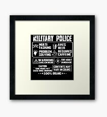 military police wife military police k 9  military police girlfriend m Framed Print