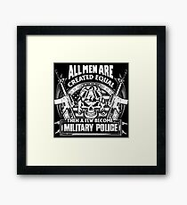 military police corps military police west germany military police dad Framed Print