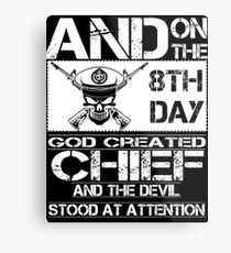 Airplane navy chief navy pride Us Navy navy chief dad navy chief wife  Metal Print