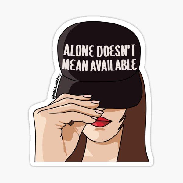 Alone by Sasa Elebea Sticker