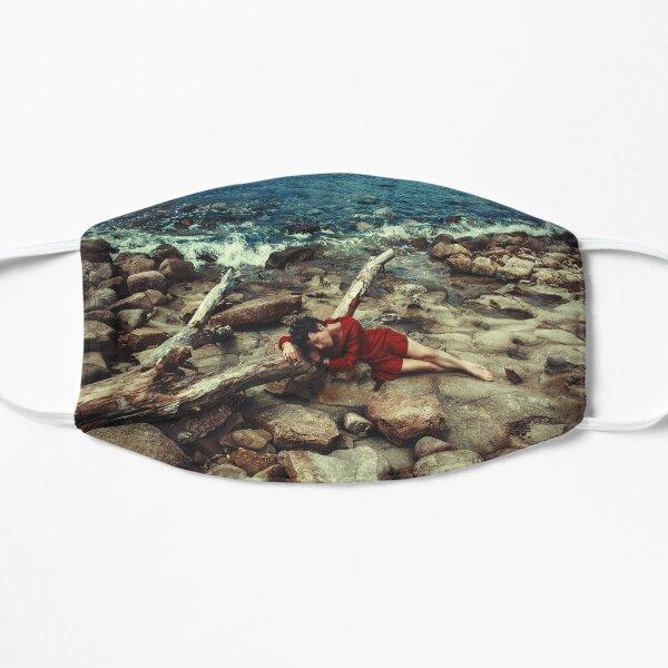 Girl on the Italian Beach Flat Mask