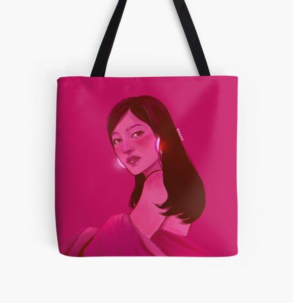 Hot Box Girl All Over Print Tote Bag