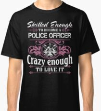 Occupation police officer blue line police officer ninja police office Classic T-Shirt