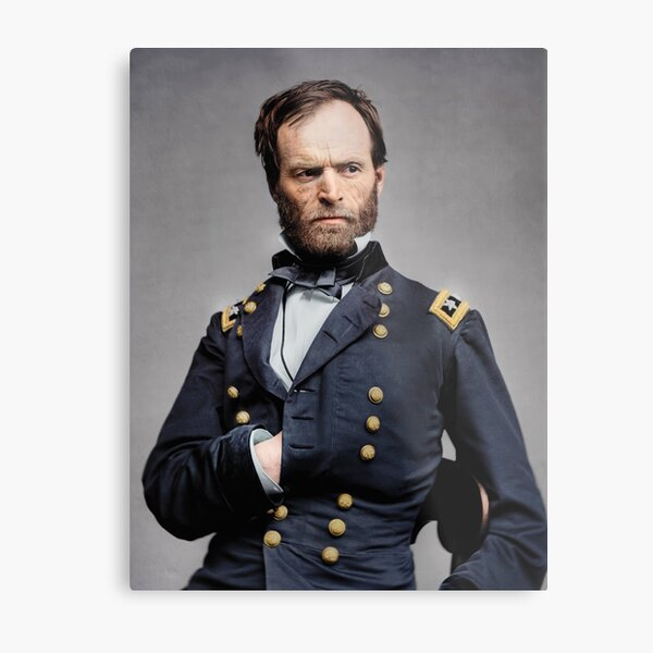 General William T. Sherman - Civil War Metal Print