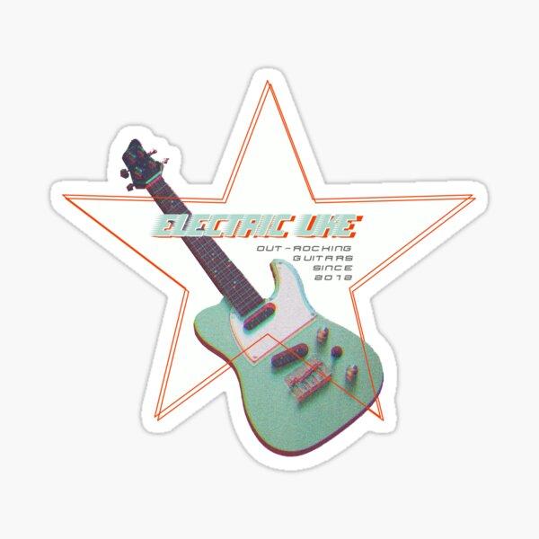 Electric Ukulele Rockstar Uke  Sticker