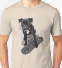 SK8 Staffy Dog black and white Unisex T-Shirt