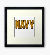 Navy Framed Print
