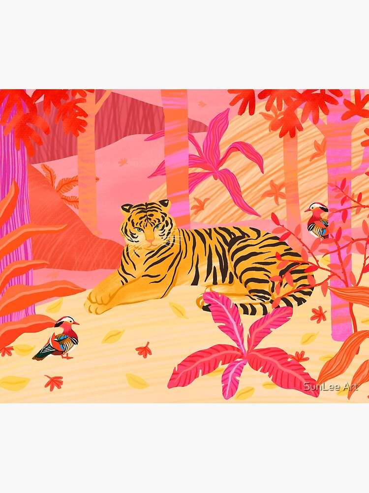 Tiger and Mandarin Ducks by sunleeart