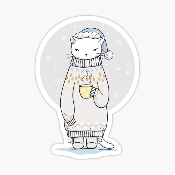 Tea break and sweater weather are perfect together Sticker