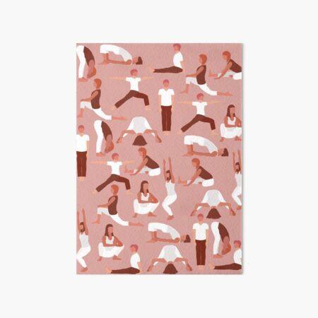 Yoga poses for Root Chakra YogaMap RED Art Board Print