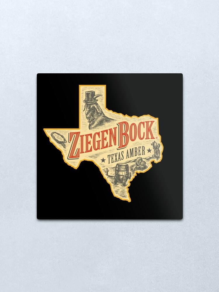 Alternate view of Ziegenbock Texas Amber Beer Metal Print