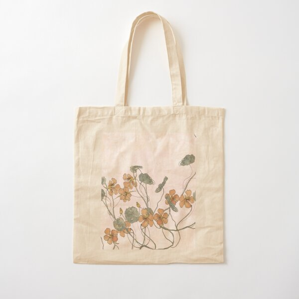 Winding - floral watercolour Cotton Tote Bag