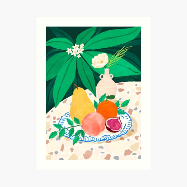 Fruits and Flower Art Print