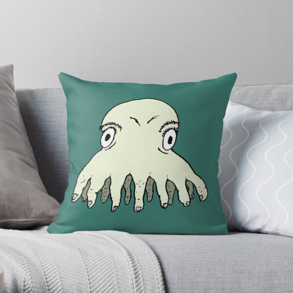 Hand Squid Throw Pillow