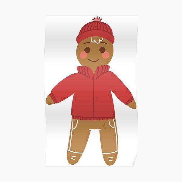 Gingerbread Figure Poster