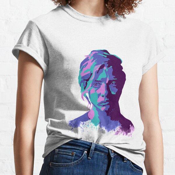 Purple Pop Art Girl Classic T-Shirt