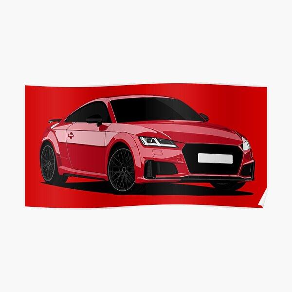 Audi A5 Coupe 2010 CARS6085 Art Print Poster A4 A3 A2 A1