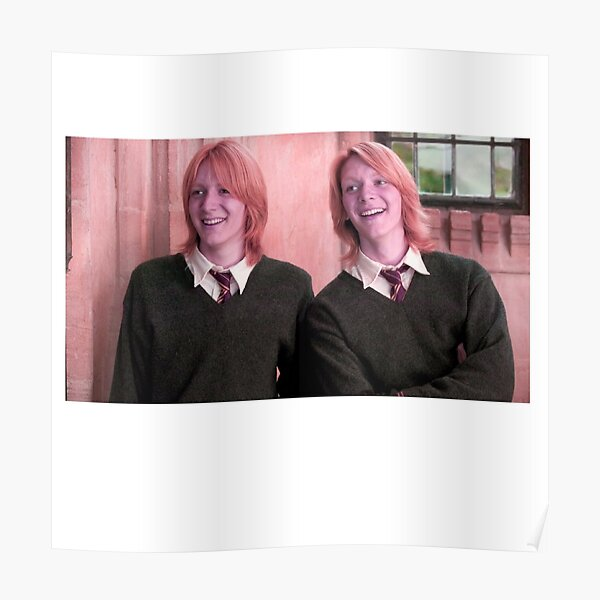 Fred and George Young Wild and free Poster