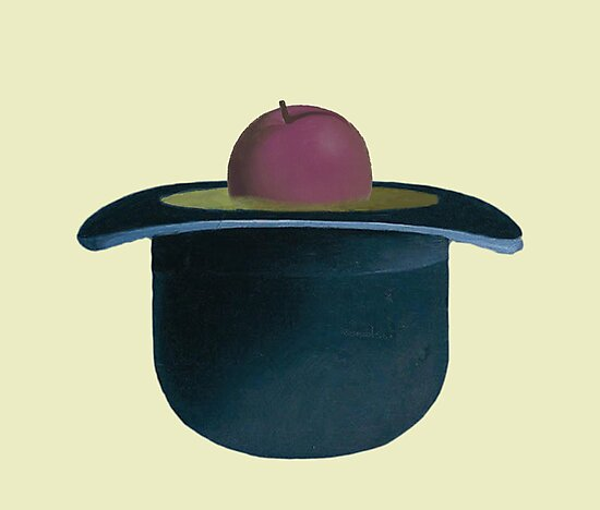 A single plum floating in perfume served in a man s hat by Exposation af884dc918f