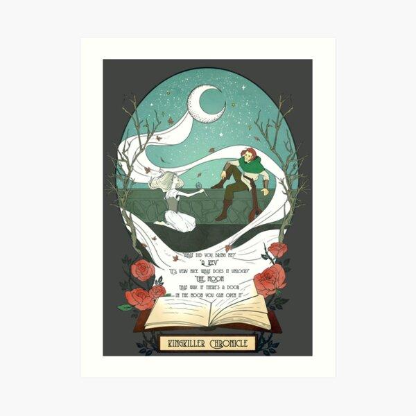 Kingkiller Chronicle Auri and Kvothe Moon Key Quote Art Print