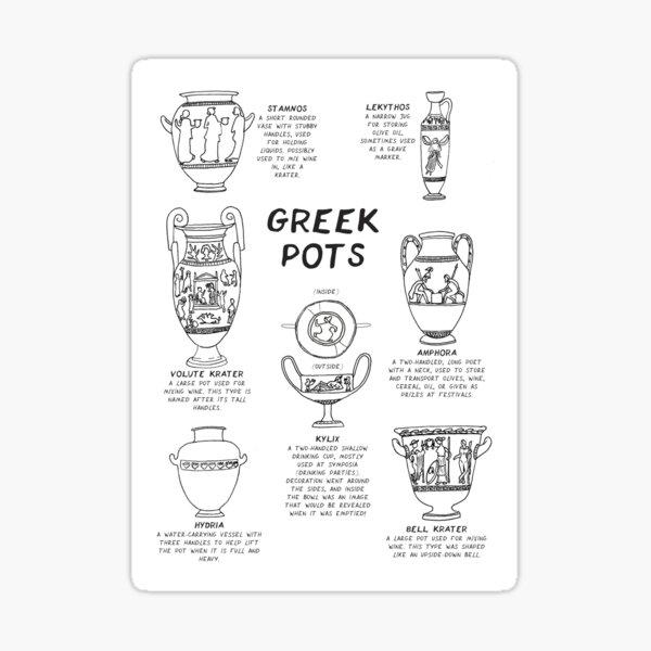 Greek Myth Comix - Guide to Greek Pottery Sticker