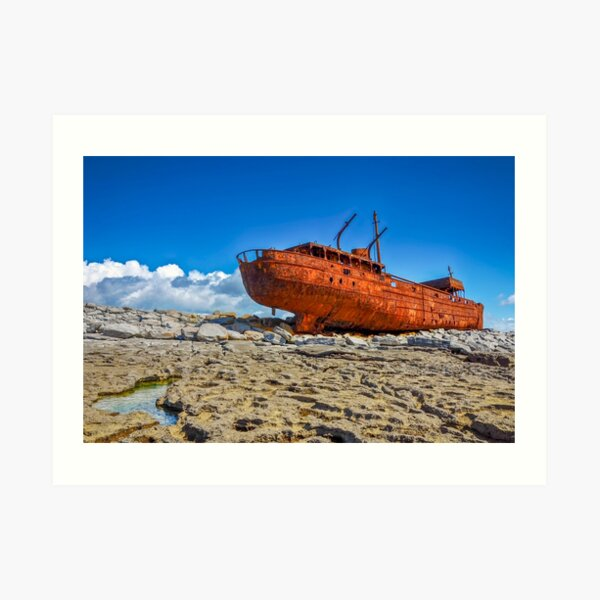 The Plassey Famous Aran Islands Shipwreck on Inis Oirr Art Print