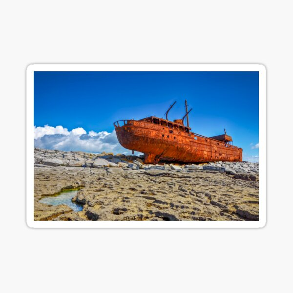 The Plassey Famous Aran Islands Shipwreck on Inis Oirr Sticker