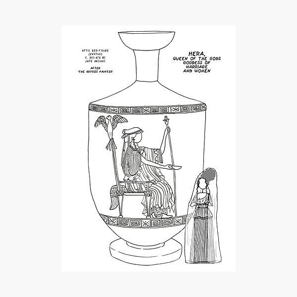 Copy of Greek Myth Comix - Olympian god Hera  Photographic Print