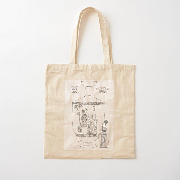 Copy of Greek Myth Comix - Olympian god Hera  Cotton Tote Bag