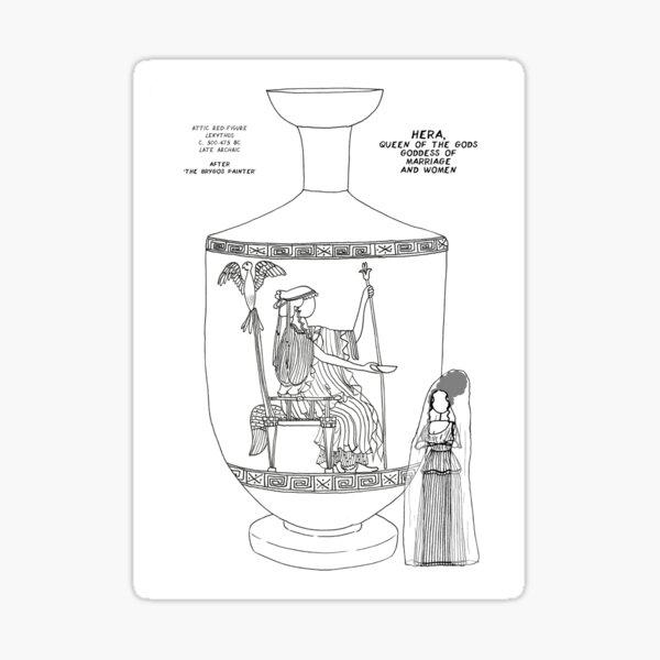 Copy of Greek Myth Comix - Olympian god Hera  Sticker