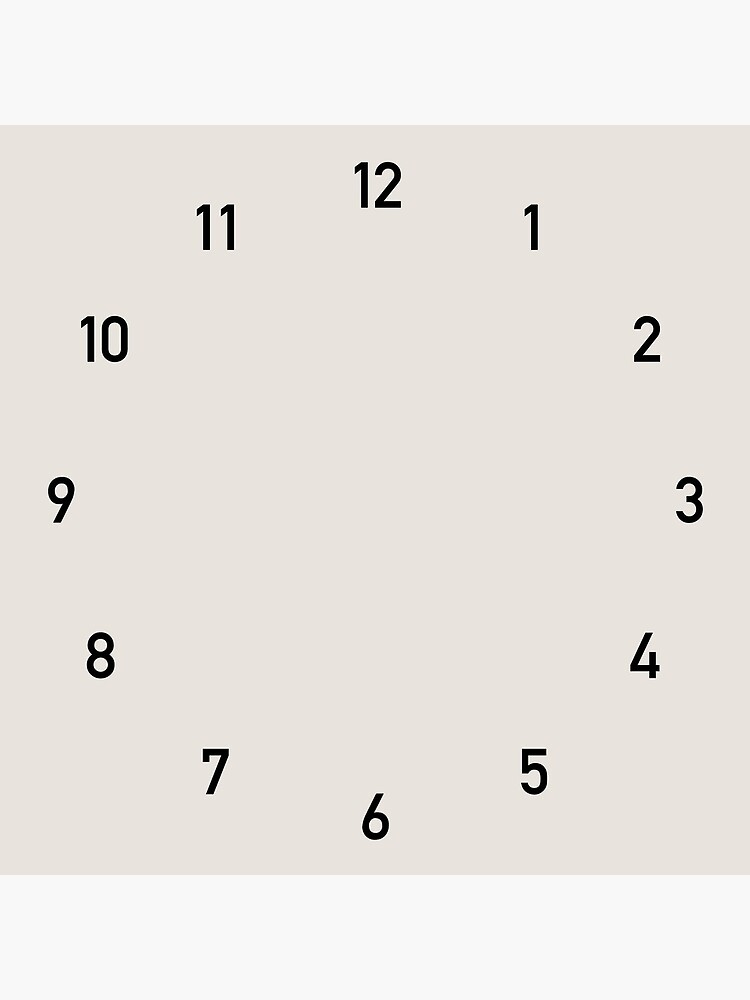 Clock numbers beige 2 by colorandpattern
