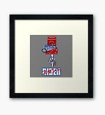 Stunt Rider Framed Print