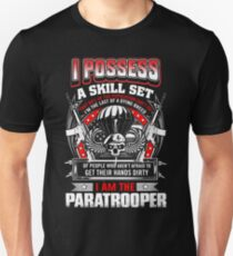 paratrooper, airborne, airborne mom, airborne brotherhood, airborne wife  T-Shirt