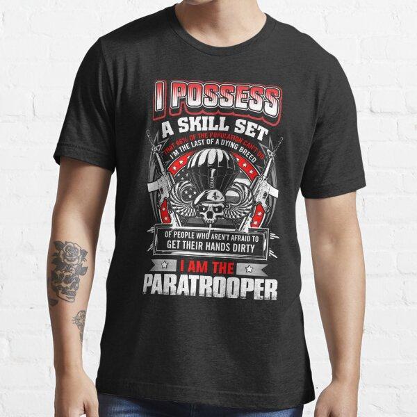 paratrooper, airborne, airborne mom, airborne brotherhood, airborne wife  Essential T-Shirt