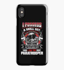 paratrooper, airborne, airborne mom, airborne brotherhood, airborne wife  iPhone Case/Skin
