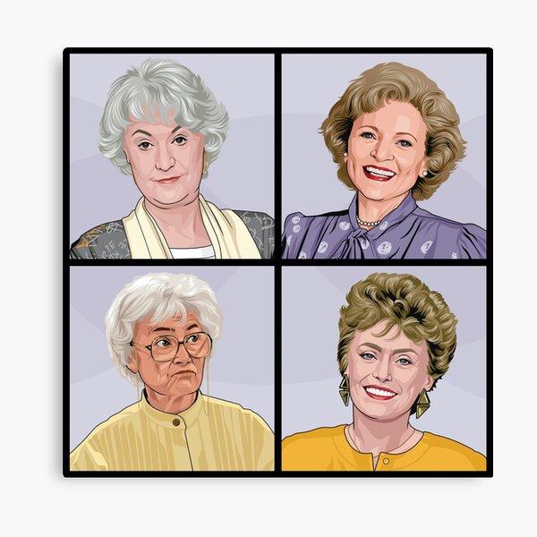 Golden Girls - Original Artwork featuring all of the girls! Canvas Print