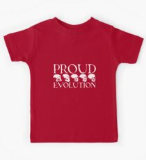 Proud Evolution White Skulls Kids Tee