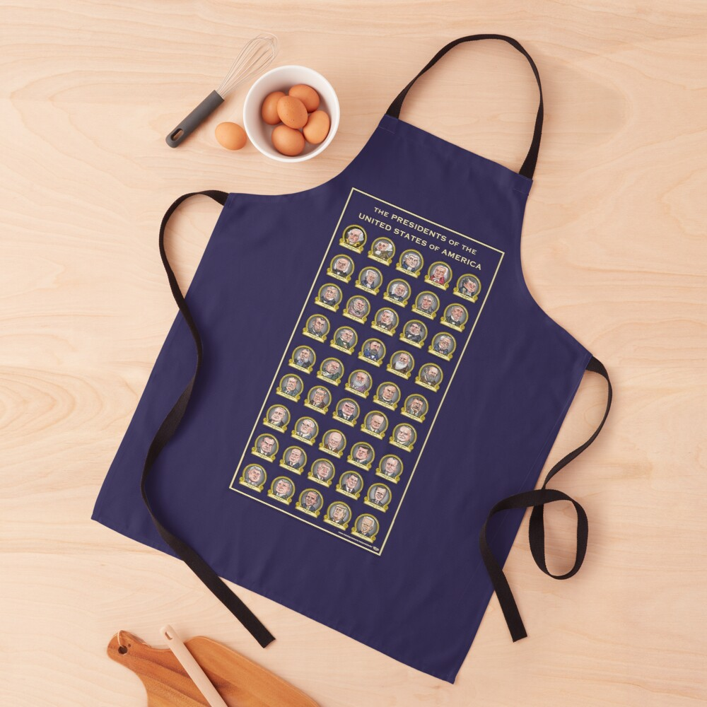 Presidents of the United States of America (Design Two) Apron